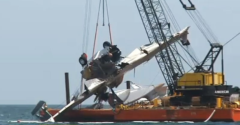 Illustration for article titled A Catalina Seaplane Was Destroyed During Nic Cage Movie Production