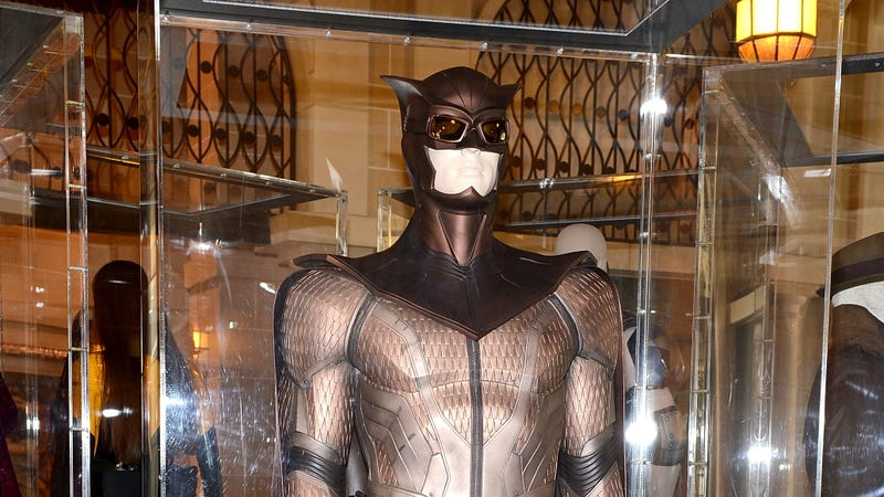 A picture of a promotional costume made for DC's Before Watchmen comics. (Photo: Michael Kovac/Getty Images)