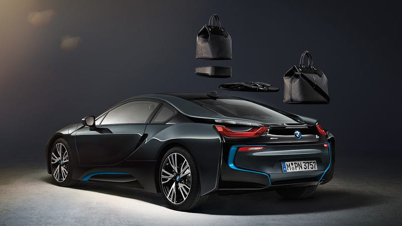 Illustration for article titled BMW i8's Custom Louis Vuitton Luggage Costs $20k