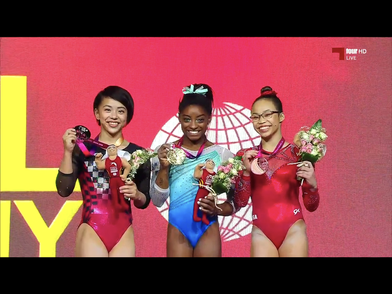 Illustration for article titled Simone Biles Wins Record Fourth World All Around Championship!
