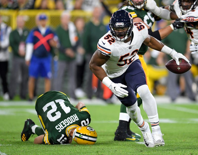 48bac078 New Chicago Bears LB Khalil Mack Was A God In His Debut
