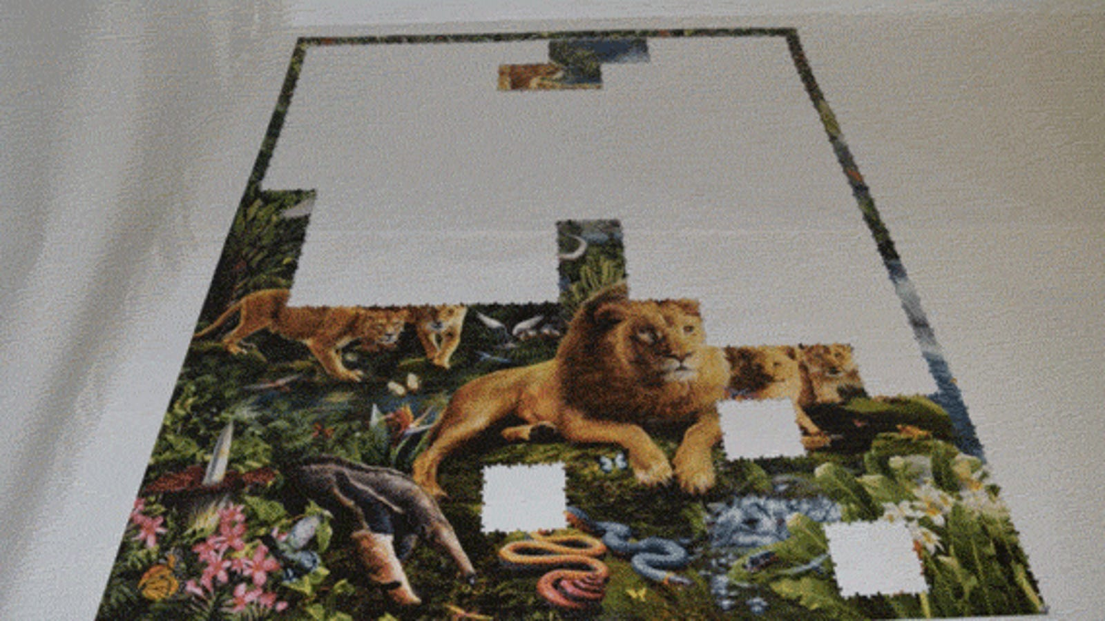 One of the Largest Jigsaw Puzzles in the World Made Harder