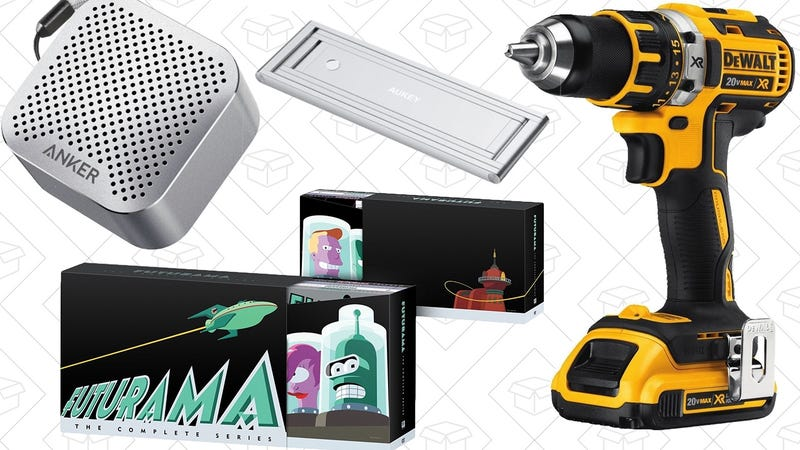 Illustration for article titled Today's Best Deals: Futurama, DEWALT Tools, Tiny Anker Speaker, and More