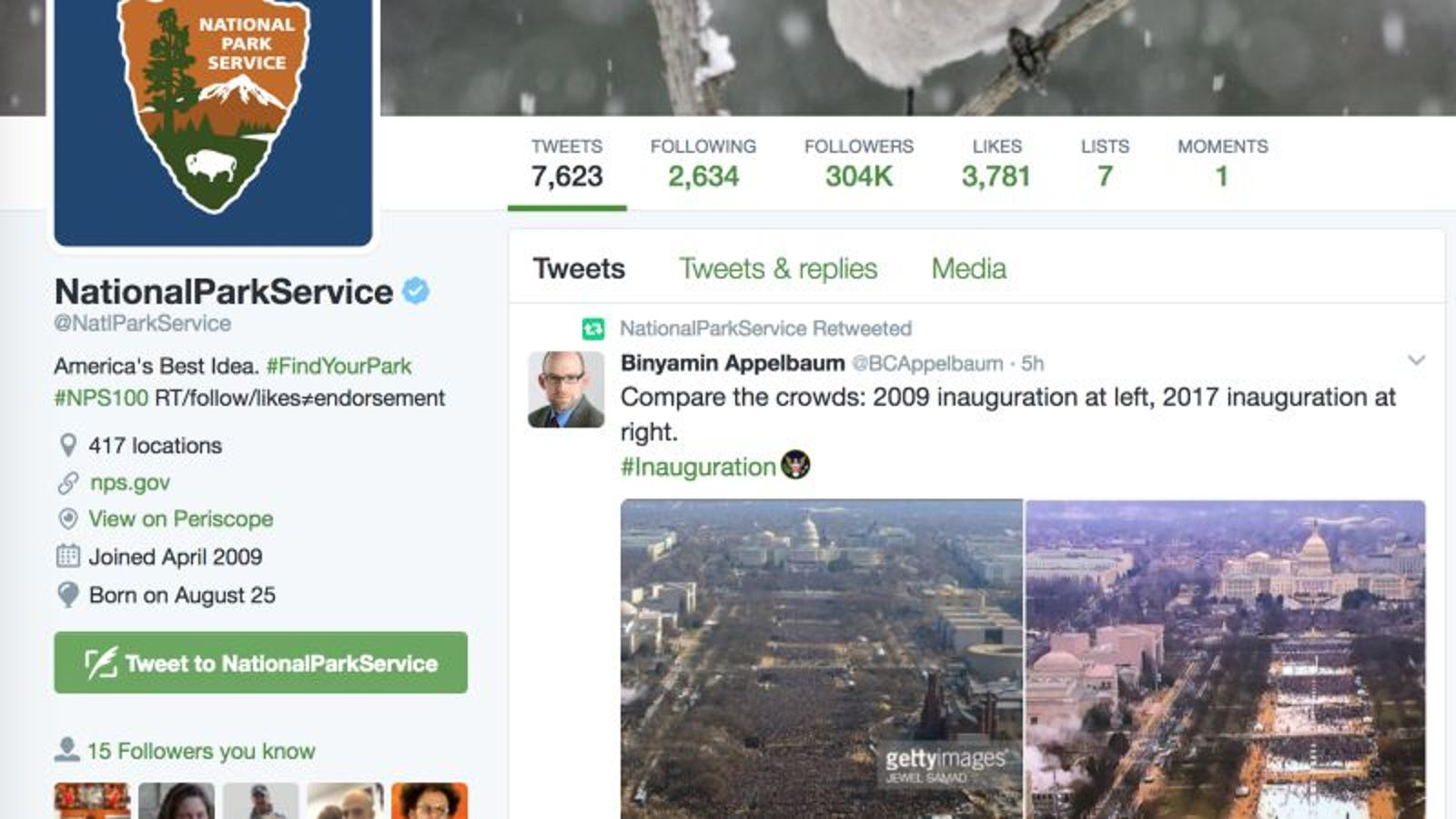 National Park Service ordered to shut down Twitter account over anti ...