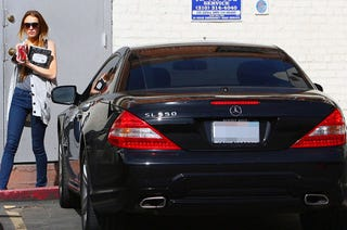 Illustration for article titled Lindsay Lohan Trades Down To A Mercedes SL 550
