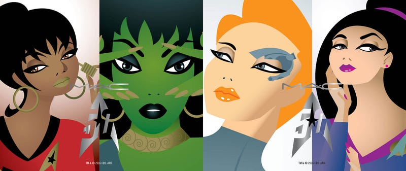 Illustration for article titled I Just Want to Smear the MAC Star Trek Makeup All Over My Face Right Now
