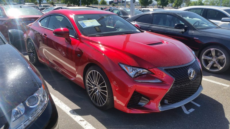 Talk About An Odd Car To Run Into Two Spaces Away From A Cobalt. Lexus RC F  With 2,000 Miles For Two Bucks Under $66k. By The Way, Has Anyone Else  Noticed ...