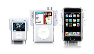 Illustration for article titled iPod Swing Speakers Are Snap-On, Kinda Neat