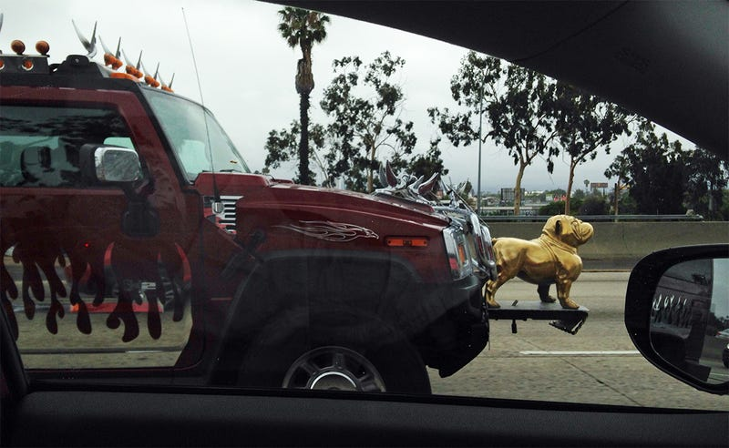 There's actually another golden dog on the back, and the entire roof is chrome swans.