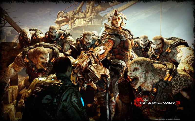 Illustration for article titled Game Night Blip: Gears of War 3 Edition