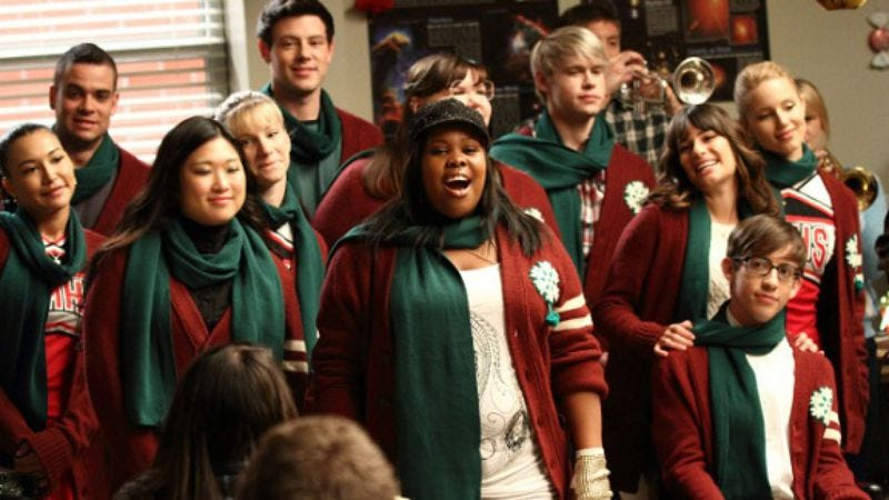 """Illustration for article titled Glee: """"A Very Glee Christmas"""""""