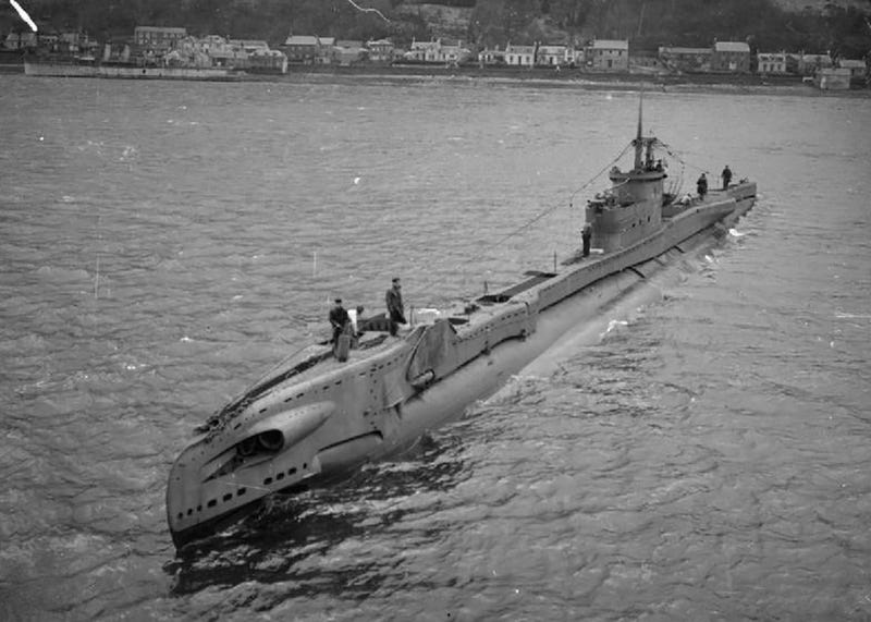 A T-class submarine similar to the HMS Tarpon. (Image: S. J. Beadell/Imperial War Museums)