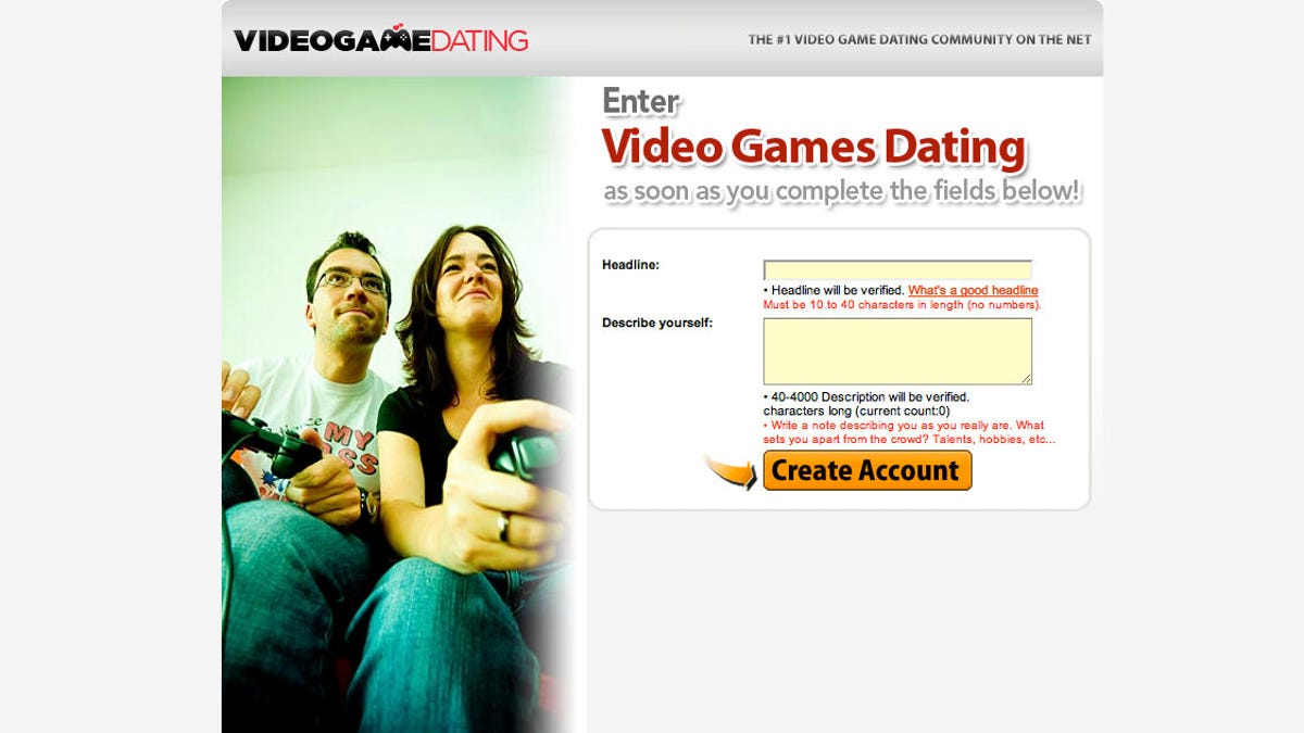 Video game dating personals
