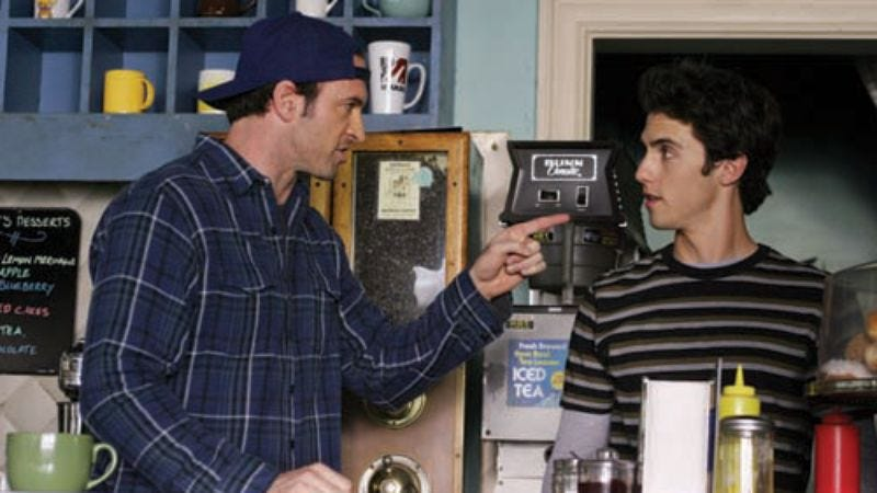 """Illustration for article titled Gilmore Girls: """"Keg! Max!""""/""""Say Goodnight, Gracie"""""""