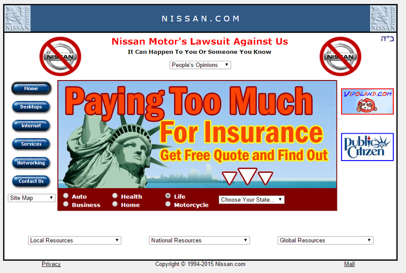Illustration for article titled So Nissan doesn't own nissan.com