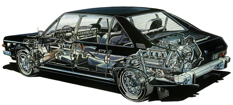 Illustration for article titled Every Non-Front-Engined Sedan
