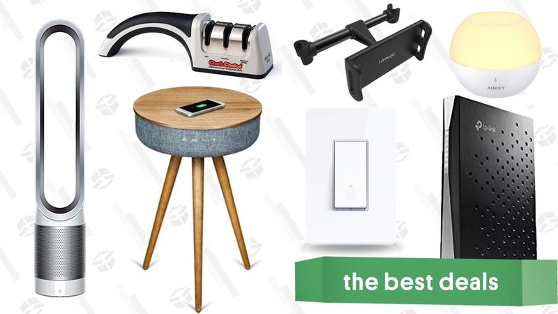 Illustration for article titled Saturday's Best Deals: Dyson Air Purifier, Modem/Router Combo, Smart Light Switch, and More
