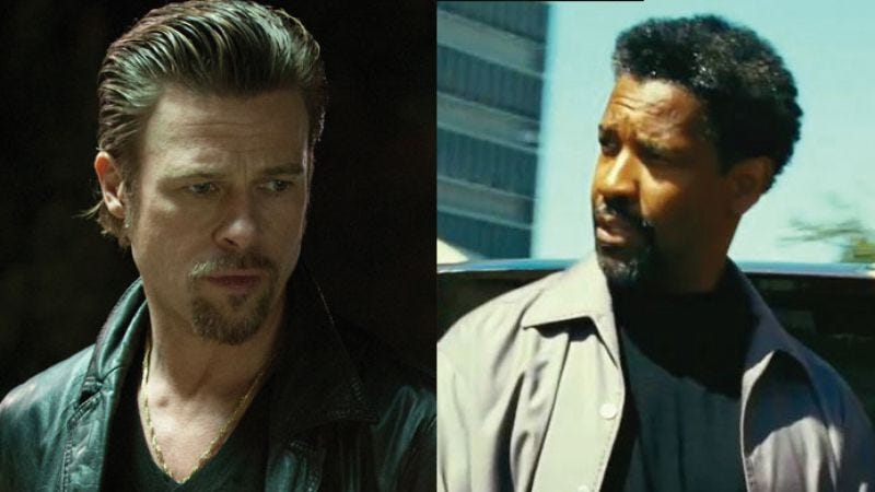 Illustration for article titled Brad Pitt and Denzel Washington might make a movie together