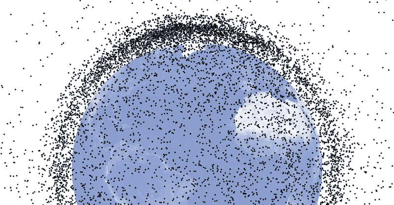 ¿Cuánta basura espacial hay en realidad alrededor de la Tierra?