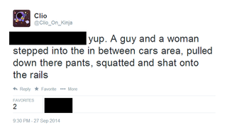 Last night I saw two people poop on the subway. AMA