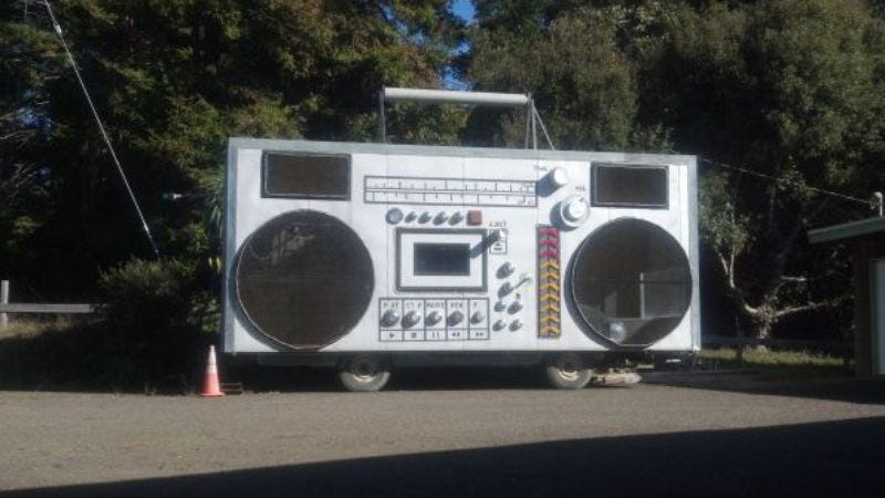 Illustration for article titled Buy this giant, Burning Man-famous boombox art car for just $5200