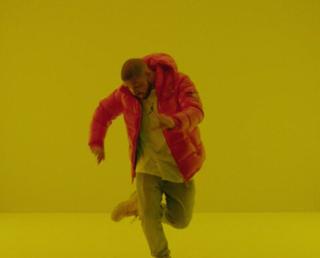 """A scene from Drake's """"Hotline Bling"""" videoYouTube screenshot"""