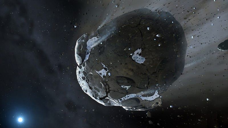 Illustration for article titled Astronomers Find Water on the Remnants of a Destroyed Planet