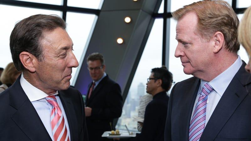 ESPN acting chairman George Bodenheimer (left) and Roger Goodell