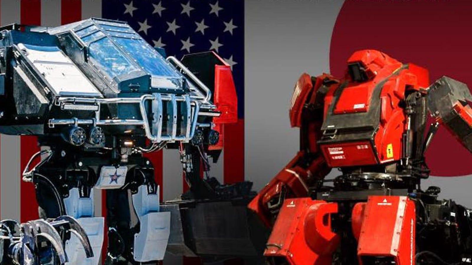 Cómo ver, en directo, el primer combate real de la historia entre robots gigantes