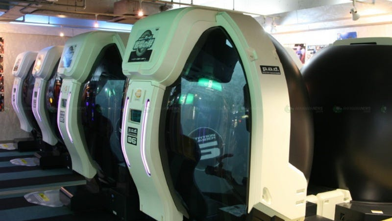 Panoramic Mecha Simulator Arcade Game Is Networked Awesome