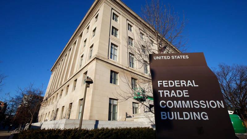 This Jan. 28, 2015, file photo, shows the Federal Trade Commission building in Washington.