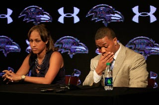 Ray Rice and Janay Rice (Rob Carr/Getty Images)