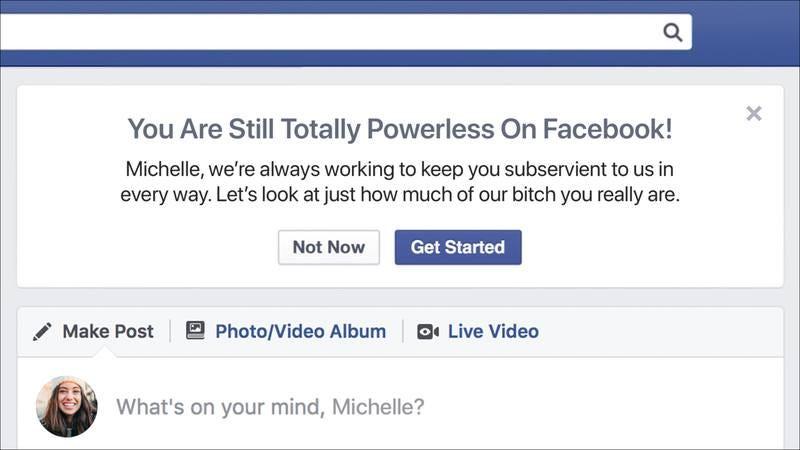 A Facebook page.