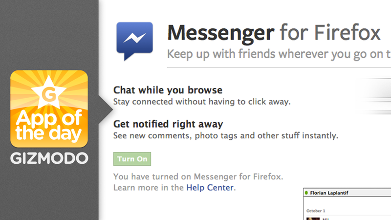Illustration for article titled Facebook Messenger for Firefox: Never Miss a Facebook Chat