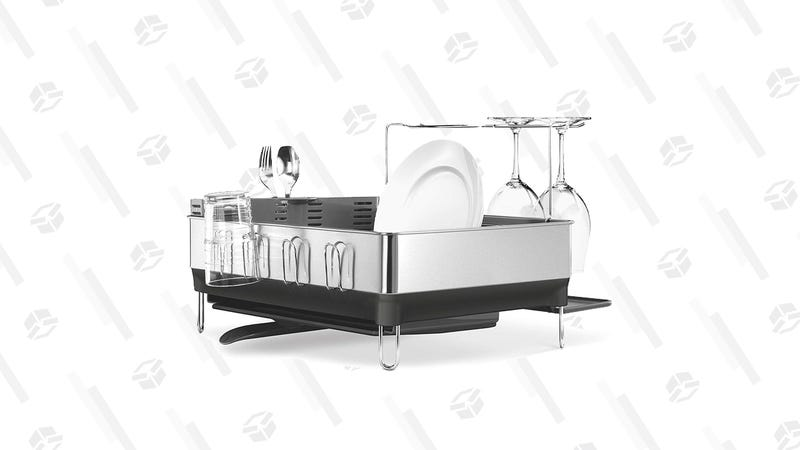 simplehuman Kitchen Steel Frame Dish Rack | $64 | Amazon