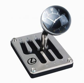 Illustration for article titled Faux Lexus Gear Shift Clock Is Useless, Really