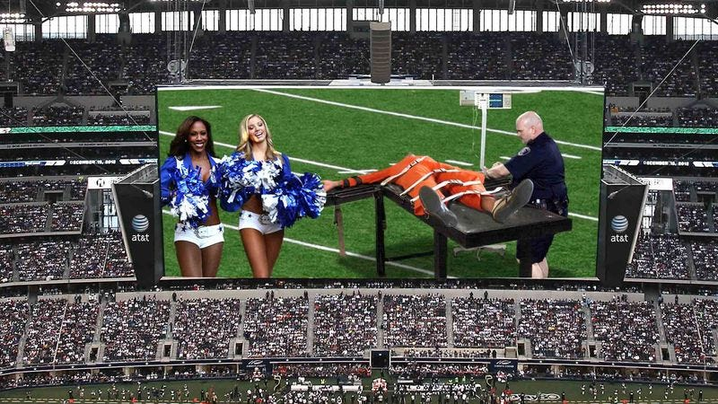 Illustration for article titled Dallas Cowboys Halftime Show Features Execution Of Texas Prisoner
