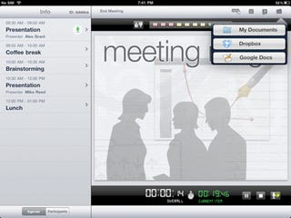 Illustration for article titled Halve Meeting Times With the Presentation-Sharing and Voting iPad App 'Meeting Mngr Pro'