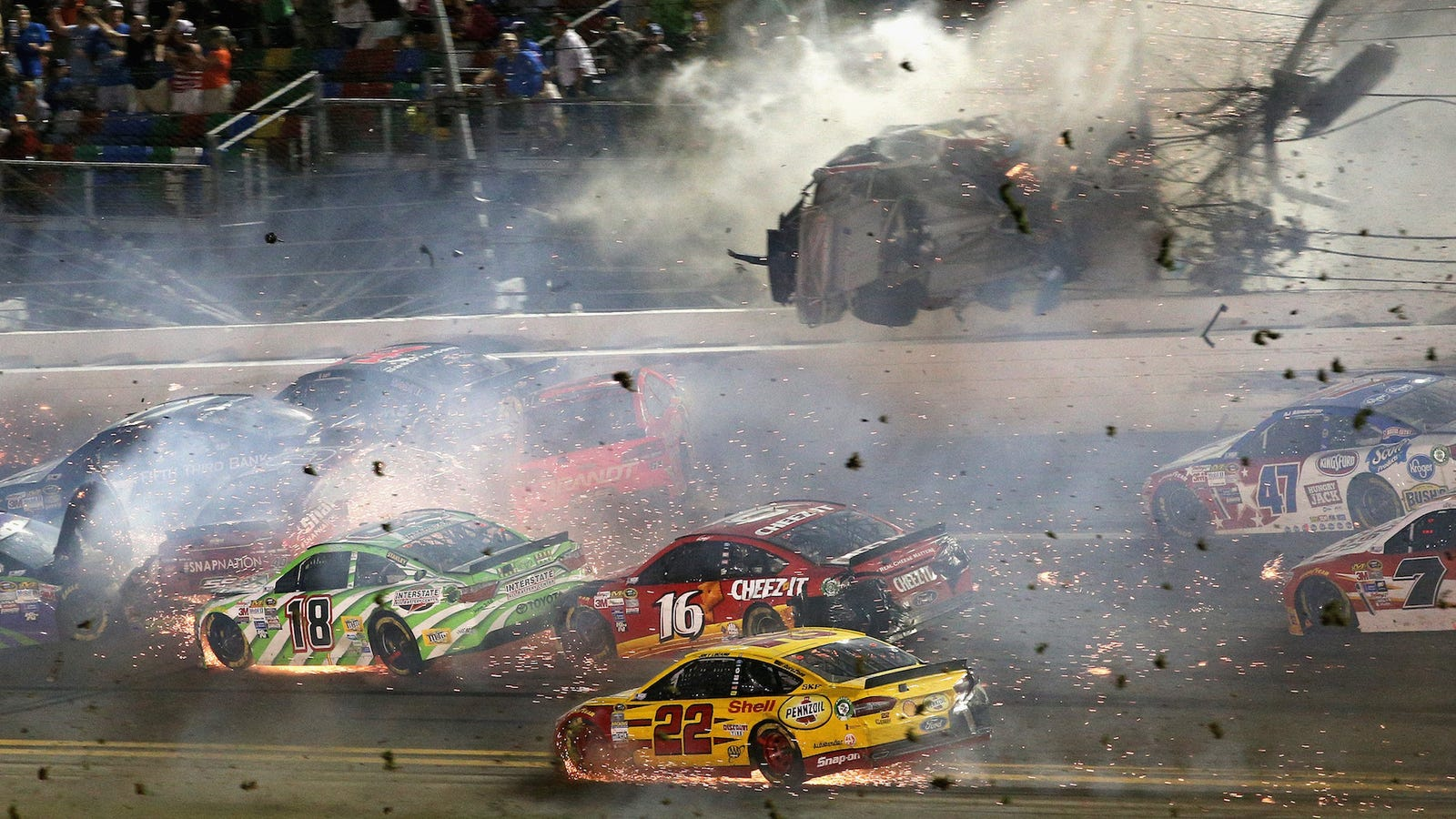 People Are Still Suing Over Injuries From That Nightmare NASCAR Wreck At Daytona In 2015