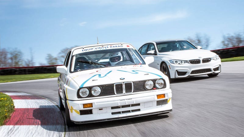 Illustration for article titled Can the bone-stock 2015 M3 beat its Group A ancestor at Mid-Ohio?