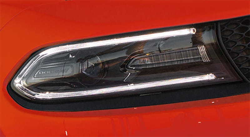 The current Dodge Charger headlight, which it looks like the next Ram truck will sort of mimic. (Photo Credit: FCA)