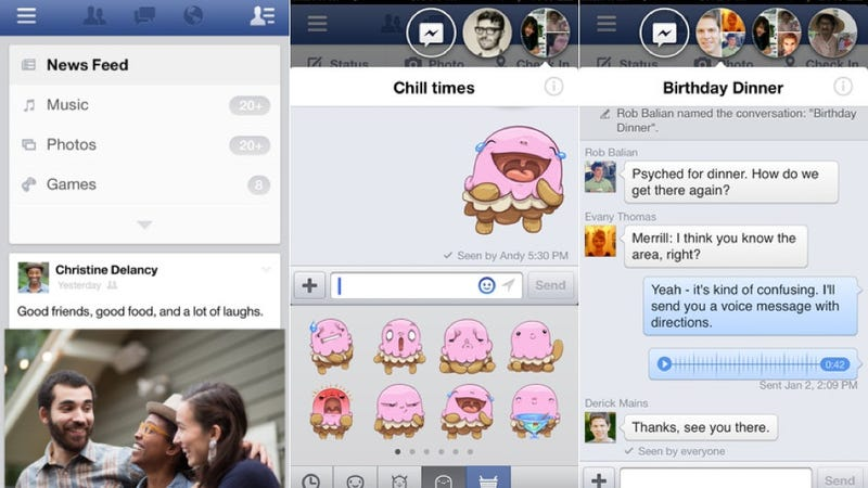 Illustration for article titled Today's Facebook iOS Update Brings Chat Heads to Your iPhone