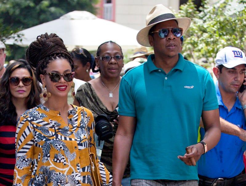 Beyoncé and husband Jay-Z tour Old Havana, Cuba, on April 4, 2013.