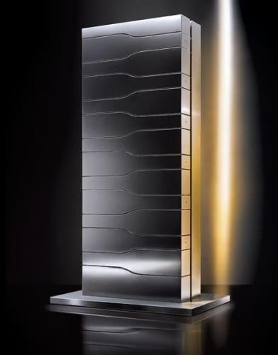 Illustration for article titled Porsche's Futuristic Champagne Tower for Veuve Cliquot Is a Fridge by Any Other Name