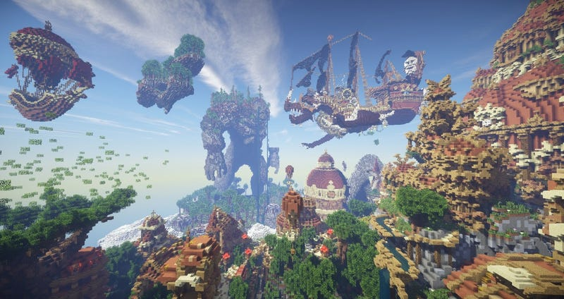 """Illustration for article titled Spectacular Builds From Minecraft's """"Floating Island"""" Contest"""