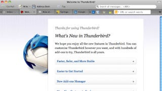 Illustration for article titled Thunderbird 5 Brings Tab-Dragging, Add-ons Management, and More Zippy Improvements