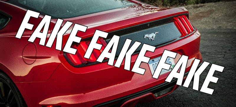 Illustration for article titled The 2015 Ford Mustang EcoBoost Fakes Its Engine Noise