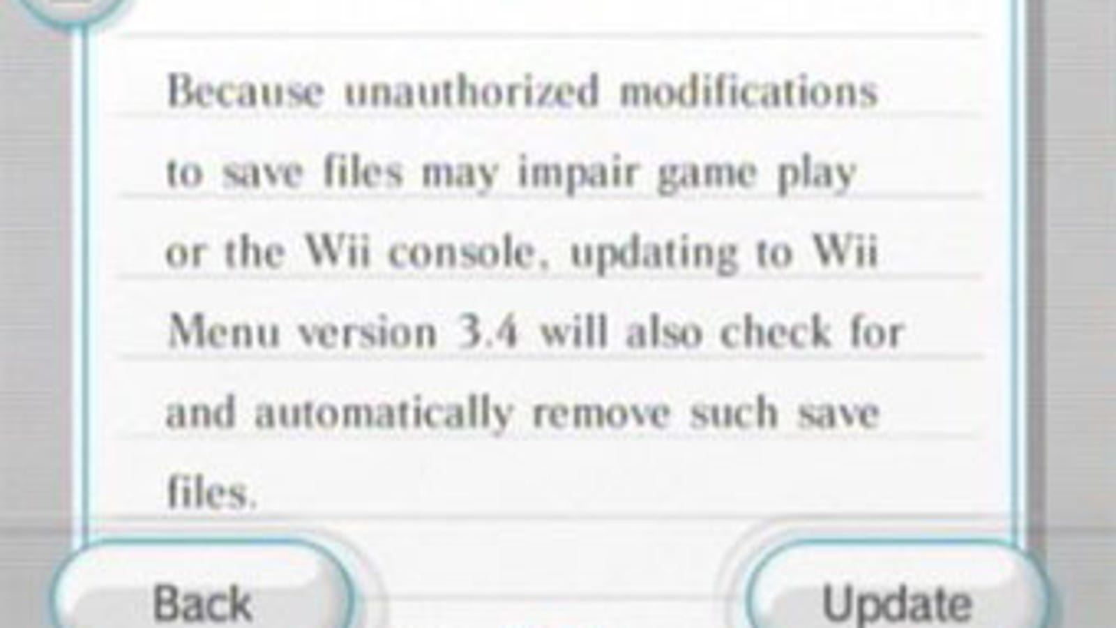Latest Wii Update Will, As Usual, Attempt To Block The