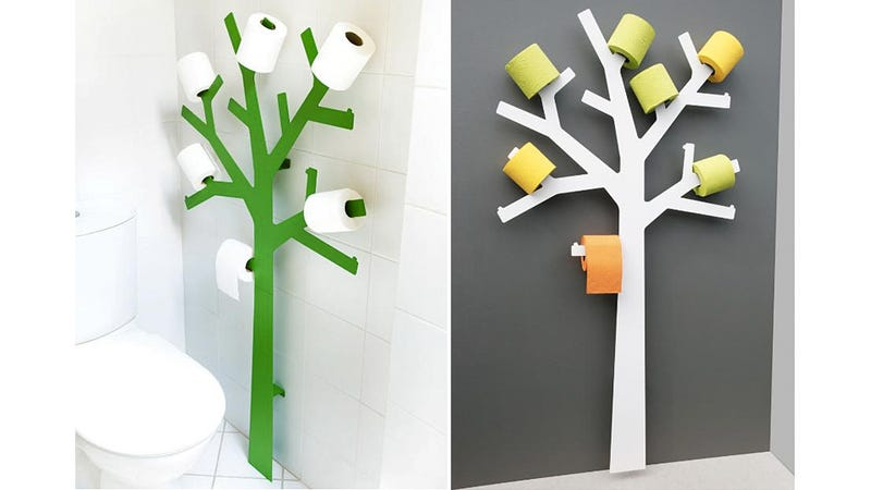 Illustration for article titled Adorable Toilet Paper Tree Lets You Proudly Display Your Extra Rolls