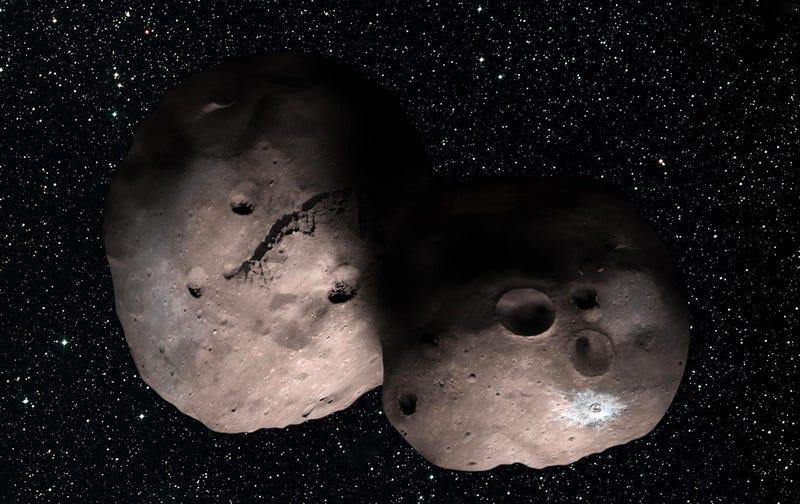 Interpretación artística de MU69. Imagen: NASA